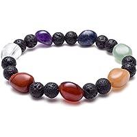 crystaltears natur Lava Rock Chakra Unregelmäßige Stein Perlen ätherisches Öl Diffusor Armband Schmuck preisvergleich bei billige-tabletten.eu