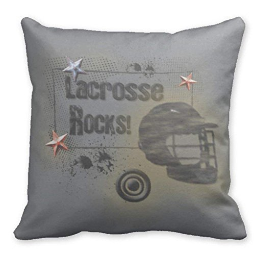 LULABE Decorative Pillow Covers Design Blank Lacrosse Rocks for Couch Sofa Or Bed Set Cozy Home Decor Size:16 X 16 Inches/40cm x 40cm
