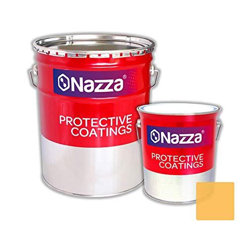 Pintura Epoxi Bicomponente Alimentaria Nazza | Esmalte certificado para uso alimentario y sanitario | Apta para estar en contacto con alimentos y bebidas | Color Crema | 2,4 L. + 1 L.
