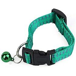 Vaycally Pet Dog Cat Flea Collar Correas y Soft Genuine Nylon Dog Collar Anti Mosquito Anti Piojos Pequeños Collares Ajustables Suministros para Mascotas Productos de Verano
