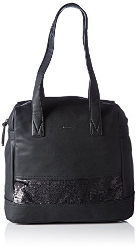 Lily Leder Schuhe (Tamaris Damen LILY Shopping Bag Shopper, Schwarz (black), 35x30x17 cm)