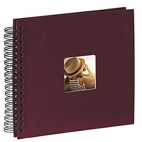 Hama Fotoalbum (28 x 24 cm, 50 schwarze Seiten, mit Ausschnitt für Bildeinschub) 25 Blatt