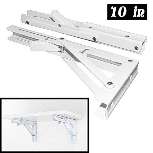 2 soportes plegables para estantes de 10 pulgadas