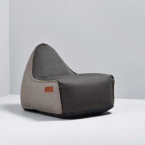 SACKit RETROit Canvas Sitzsack Sessel Indoor Dark Brown/Sand