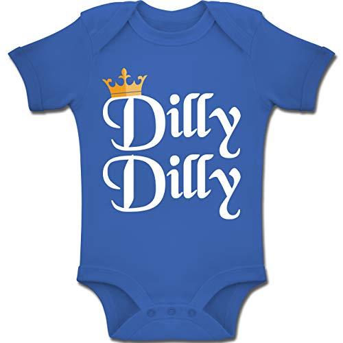 Kostüm Max König - Anlässe Baby - Dilly Dilly - St. Patricks Day - 6-12 Monate - Royalblau - BZ10 - Baby Body Kurzarm Jungen Mädchen