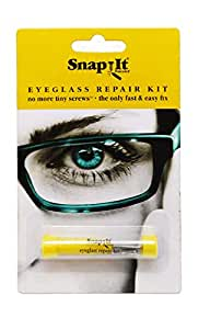 Snapit Glasses Repair Kit, With Long Easy Fit Screws and Micro Screwdriver. Perfect For Fixing Sunglasses, Spectacles, Eyeglasses and Reading Glasses. Used By Opticians.