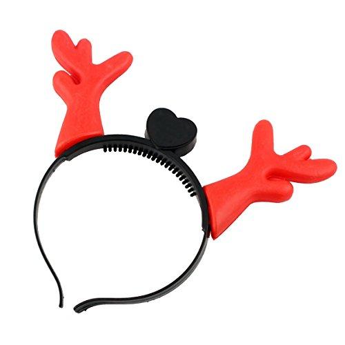 h Hörner Neuheit Light-up Stirnband für Xmas Parties (rot) blinkt (Neuheit Stirnbänder)