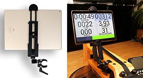 """Preisvergleich Produktbild PHOTECS Tablet-Halterung Pro V2, für iPad Pro und Andere Tablet-PC´s Oder Smartphones (ab 5"""" bis 14 Zoll) an Rudergerät, Heimtrainer, Ergometer Etc."""
