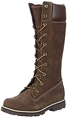 Timberland Asphalt Trail FTK_Classic Tall Lace Up with Side Zip Mädchen Combat Boots, Braun, 36