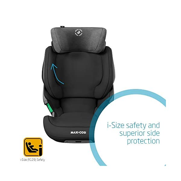 Maxi-Cosi Kore i-Size Child Car Seat, 3.5 - 12 years, 100 - 150 cm, Authentic Black Maxi-Cosi Child car seat, suitable to use from 3.5 to 12 years (approx from 100 cm to 150 cm) ISOFIX installation is possible with this group 2/3 car seat for optimal stability Quick and easy to buckle up: This ISOFIX car seat is designed to enable children to get in and out and buckle up on their own in a few seconds 5