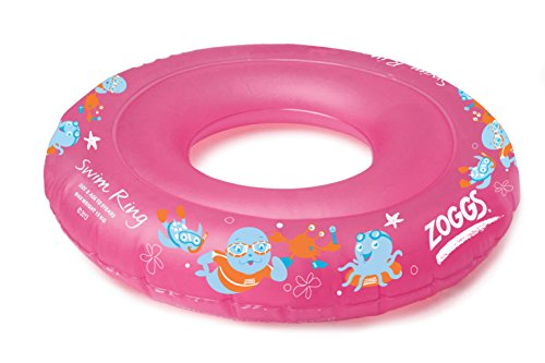 Zoggs Girl's Swim Inflatable Floatation Ring - Pink, 2-3 Years Test