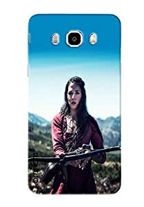 Omnam Girl Playing With Arrow Printed Designer Back Cover Case For Samsung Galaxy J5 (2016)