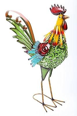 """Gartenfigur 59 cm """"Hahn"""" Metall Handarbeit NEU UVP 79,90 von point-garden bei Du und dein Garten"""