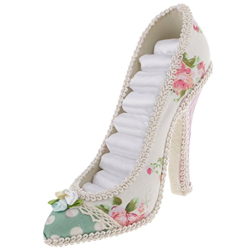 Baoblaze Qualität Blume High Heel Schuh Ring Halter Schmuckständer Rack