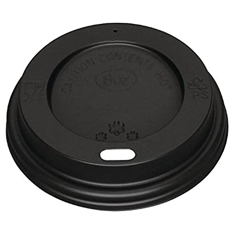 1000 X Fiesta Hot Beverages Cups Drinks Lid Black 8oz