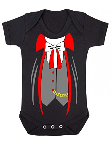 Bullshirt Vampire Suit Strampler schwarz schwarz 6-12 Monate (Mutter Neugeborenen Halloween Kostüme)