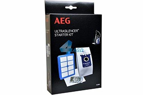 AEG AUSK9, Filter-/Staubbeutel-Vorteilset für VX8-1-, VX8-2-, VX8-öko, Usgreen, USECO, 4 Originalbeutel GR201 plus AllergyPlus Filter -