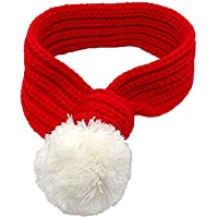 Hat Pink Santa - Corgi de Shiba Inu de la bufanda del gato del perro babero Año Nuevo de Navidad Decoración Animal doméstico del perrito de Bichon Bufanda, disponible en 4 tamaños Exquisito y encantad