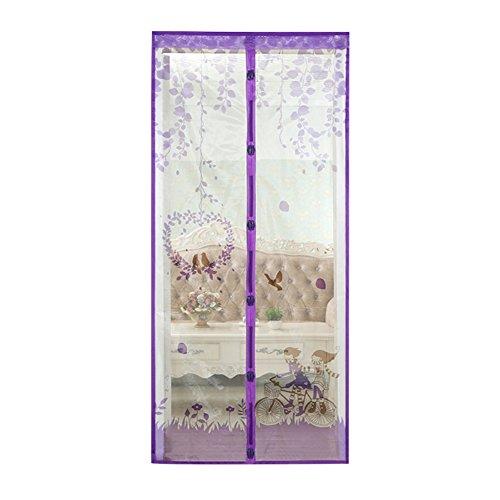 Wongfon Mesh Moskito Tür Vorhang Magnetic Fly Bug Insect Bildschirm mit einem Pack Pin, Fahrrad Muster, 100x210cm