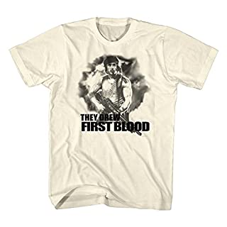 American Classics Rambo 1980s Action Thriller War Movie They Drew First Blood Adult T-Shirt Tee