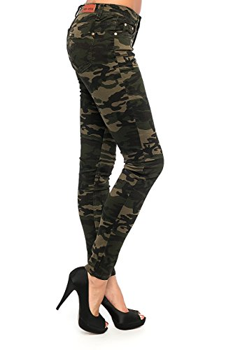 Damen Camouflage Jeans Stretch