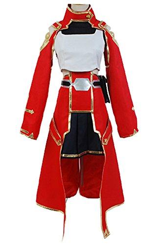 Fuman Sword Art Online Silica Keiko Ayano Battle Uniform Kostüm Cosplay M (Sword Art Online Silica Kostüm)