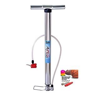 Airkraft Chrome High Pressure Car Bike Cycle Sports Ball and Inflatable Furniture/Toys Air Pump