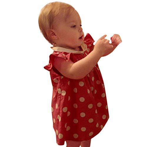 hahashop2 Baby Kinder Mädchen Punkt Revers Prinzessin Festzug Kleider Abschlussball ()