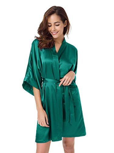 d504fcb483 SIORO Women s Plus Size Robe Soft Satin Robe Wedding Nightgown Bridesmiad  Bath Robe Sexy Sleepwear Ladies