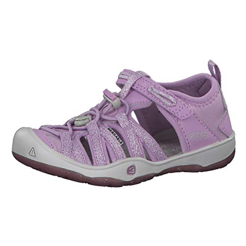KEEN 1020589 Mädchen Sandalette, Größe 38 (Schuhe Kinder Rot-glitzernden)