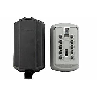 Knight Box NEW Color!! CLAY Wall Mount Push Button Lock Box with Waterproof Cover, Realtor Lock Box, Combination Key Storage Lockbox, KeySafe, 10-Digit Push-Button Combination