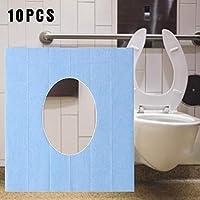 SH-Flying Protector WC Desechable, Cubierta De Asiento De Inodoro Desechable Portátil Almohadilla De Pulpa De Madera para Viajes Camping Baño Suitable