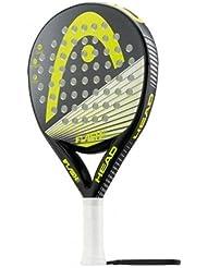 Head Flash With - Pala de pádel, color negro / gris / amarillo, talla 38 mm