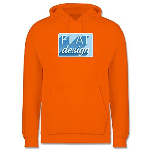 Nerds & Geeks - Flat design - Männer Premium Kapuzenpullover / Hoodie Orange