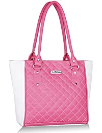 Aisna Women Pink And White Shoulder Bag (ASN-010) (pink And White)