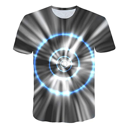 MKDLJY T Shirts Sound Activated Led T Shirt Auf und Ab Blinkendes Equalizer T-Shirt Männer Für Rock Disco Party Dj Oansatz T Shirt