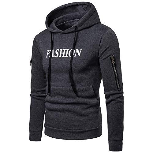 Jaminy Herren Hoodie Kapuzenpullover Langarm Sweatshirt Kapuzenjacke mit Taschen Casuals Hooded Jacket Jacke M-3XL (Grau, M)
