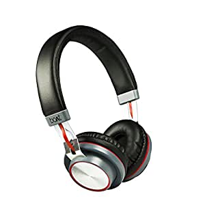boAt Rockerz 390 Over-Ear Bluetooth Headphones with Mic (Black/Red)