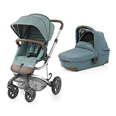 BabyStyle Hybrid Edge Pushchair with Pram Carrycot (Mineral Blue)