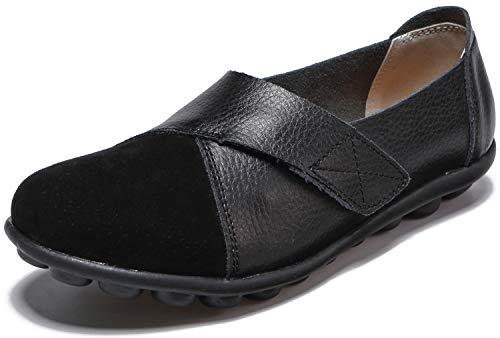 Yooeen Zapatos Mocasines Cómodos para Mujer Calzado de Trabajo Antideslizante Velcro Loafers Zapatos...
