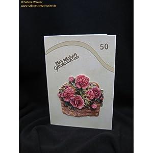 3D Grußkarte zum 50. Geburtstag, Art. 2768