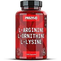 Prozis L-Arginine L-Ornithine L-Lysine:Suplemento puro en cápsulas.
