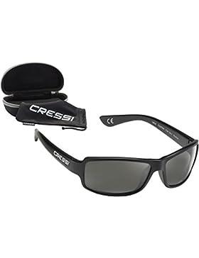 Cressi Ninja Floating Gafas de Sol, Unisex Adulto, Negro Brillante/Lentes Gris Oscuro, Talla Única