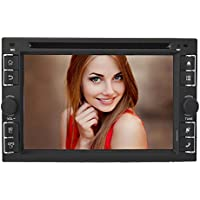 E-TONG 2 Din Universal Android Car DVD player GPS Radio Stereo with USB/SD,BT/TV HD Digital Touch Ccreen Parking Video Support Camera
