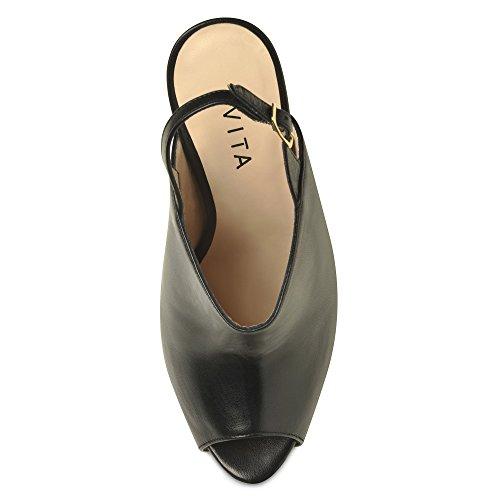 BEPPINA sandales femme cuir lisse Noir