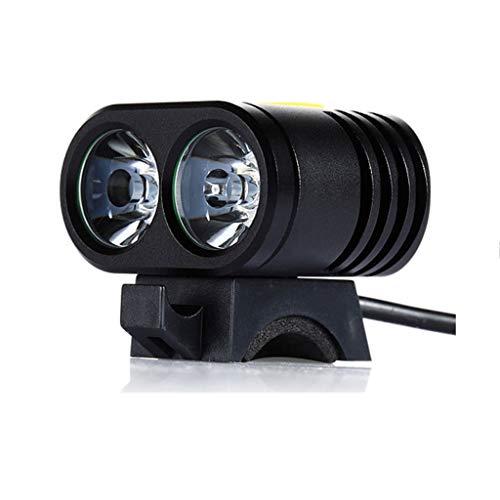 BIKEX Mini T6 Fahrrad Frontleuchte LED, Outdoor Lampe IP65 Wasserdicht Mountain Bike Zubehör, Superheller Stecker Lade Scheinwerfer, Nacht Fahrrad Beleuchtung (schwarz)