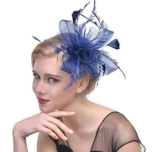 Hochzeit Fascinators Top Hat für Frauen Lady Feather Formale Kentucky Derby Kirche Tea Party Headwear (Lustig, Kentucky Hüte Derby)
