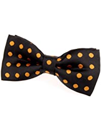 """Classic Polka Dots Woven Microfiber Pre-tied Bow Tie (4.5"""") - Various Colors"""