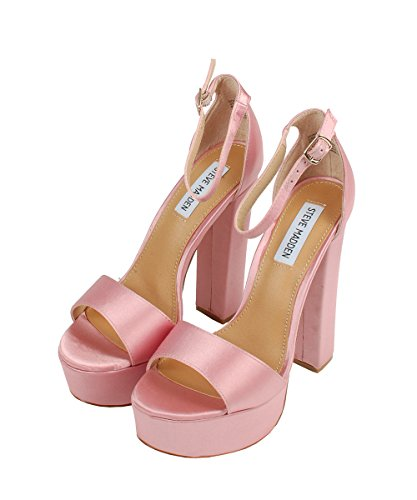 Steve Madden Gonzo-F Blush Stn Sandals - Sandali Rosa In Neoprene Pink