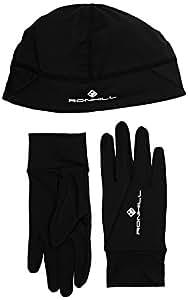 Ronhill Ensemble bonnet et gants Noir FR : S-M (Taille Fabricant : S/M)